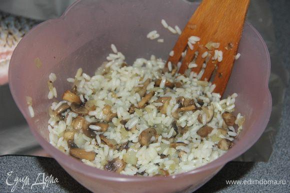 Рис и грибы соединить.