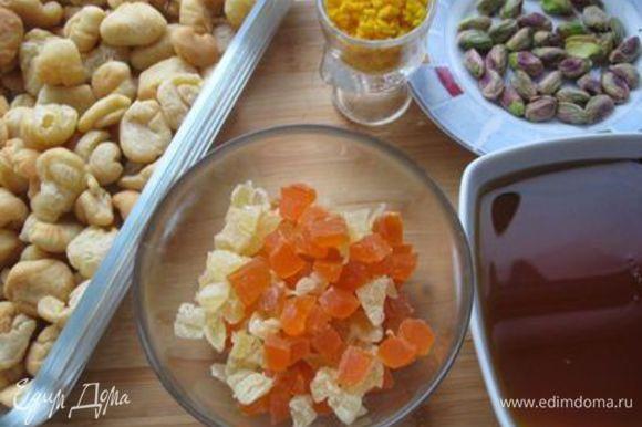 Приготовить ингредиенты для карамели.