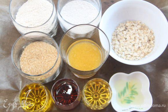 Отмерить остальные ингредиенты. Если нет патоки, замените на мед.