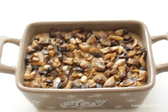 Выложить грибы на паштет. Остудить.