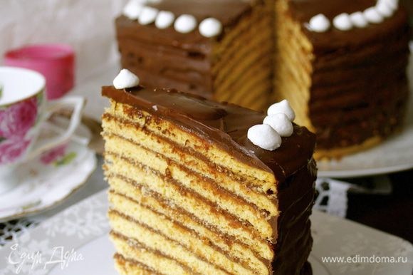Перед подачей на стол торт предварительно достать из холодильника! Он получается ОЧЕНЬ нежный, вкусный...и такой шоколадный! Угощайтесь!