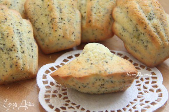 """""""Французы свято верят, что у хорошего мадлена должна быть вот такая горочка, они называют её """"соском"""", и она свидетельствует о том, что печенье идеально!"""""""