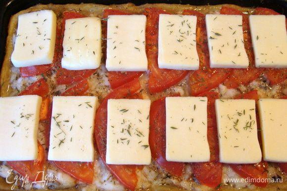 Потом выложить сыр и поставить в духовку еще минут на 15, но уже убавить огонь до 160*