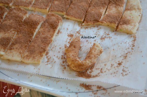 Ставим в заранее разогретую духовку и выпекаем при температуре 210 гр 10-12 мин. Готовое печенье переносим на решетку. Даем полностью остыть.