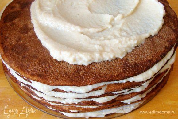 Собрать торт.