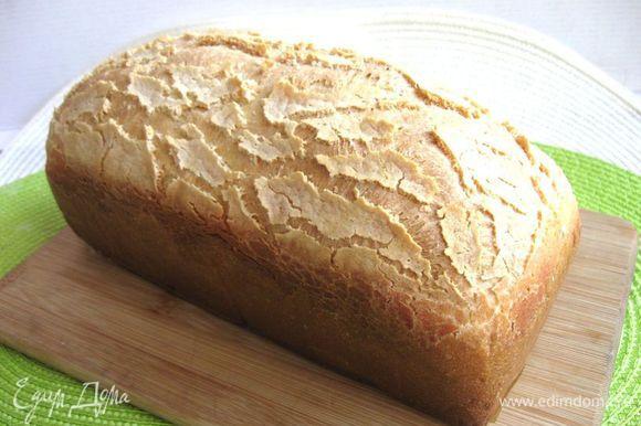 А это буханочка из теста с сухими дрожжами. Главное фото дано с этим хлебом. Пусть вам будет вкусно!