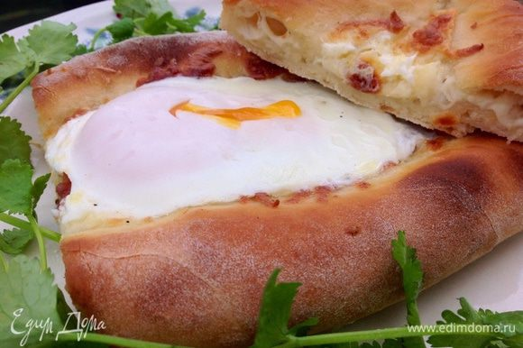 Аджарские хачапури лодочка рецепт пошагово
