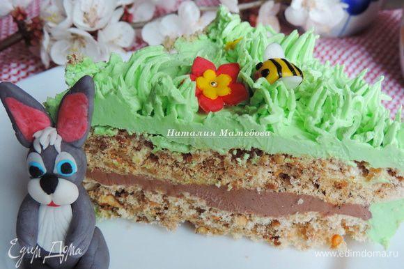 Так выглядит наш торт в разрезе.