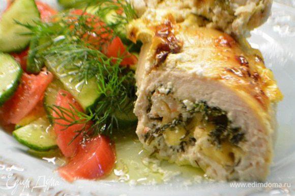 Можно подавать к столу. Отлично подойдет в качестве гарнира смесь дикого и длинного риса или овощной салат. Приятного аппетита!!!