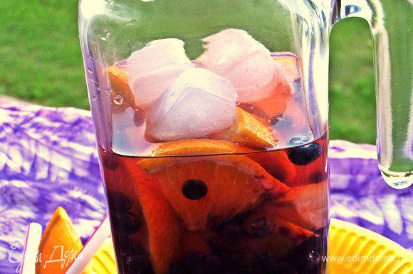 При желании можно кинуть кубики льда, чтобы сразу утолить жажду.