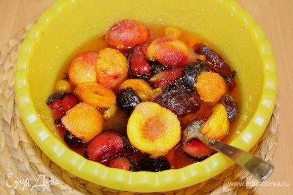 Оставьте фрукты настояться около 5 часов.