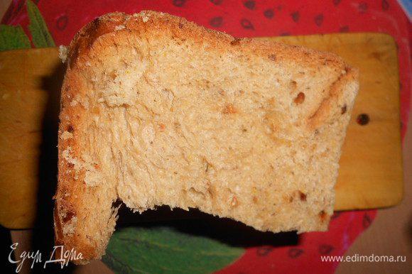 Понадобится хлеб (у меня домашняя выпечка).