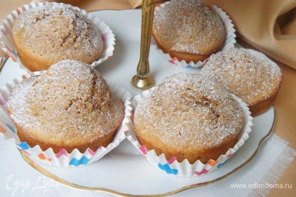 Или просто посыпать сахарной пудрой. Приятного чаепития!