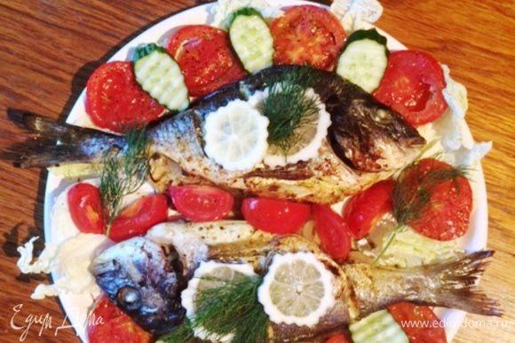 Очень вкусная рыба получилась. Приятного аппетита!