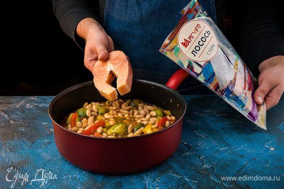 Добавляем стейки лосося «Магуро».