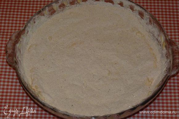 Затем снова слой сухой смеси (1 стакан).