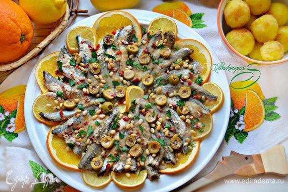Готовое блюдо остудите, посыпьте рубленной петрушкой и подавайте к столу. Buon appetito!