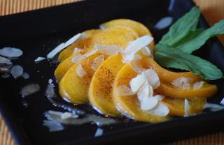 Рецепт Персики в восточном стиле