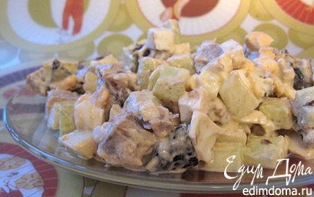 Рецепт Салат из языка с черносливом