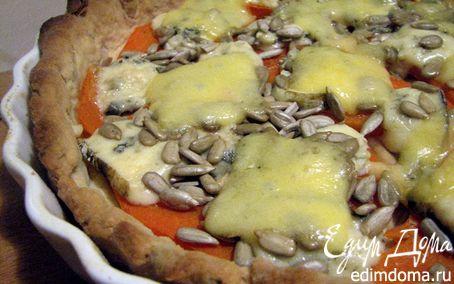 Рецепт Пирог с тыквой и голубым сыром