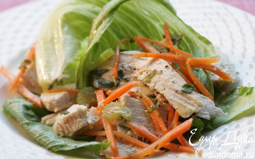 Рецепт Куриный салат с горчичным соусом
