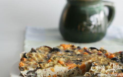 Рецепт Оливковая фриттата со сладким картофелем и красным луком