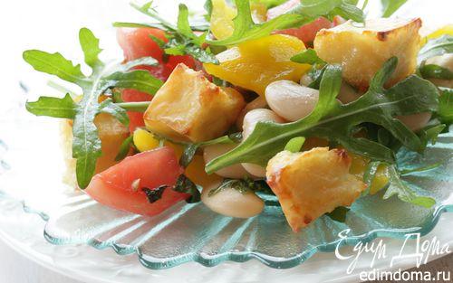 Рецепт Салат с козьим сыром и белой фасолью