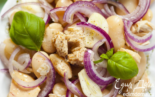 Рецепт Салат из тунца и фасоли