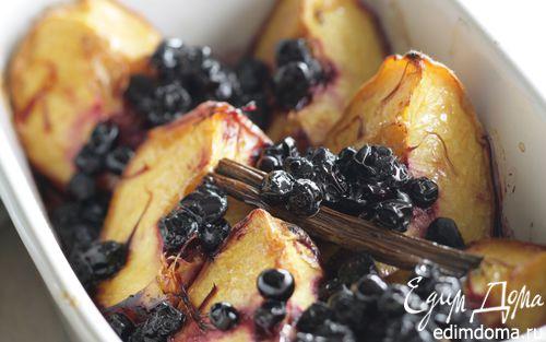 Рецепт Запеченные персики с черникой
