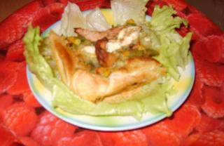 """Рецепт Пицца """"Пикник в осеннем лесу"""" на листьях салата"""