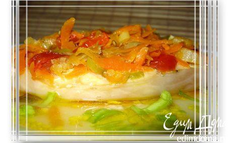 Рецепт Зубатка с овощами