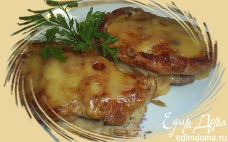 Рецепт Свинина с грибами и сыром