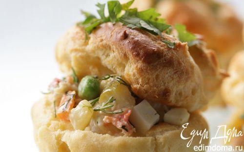 Рецепт Салат «Оливье» с домашним майонезом