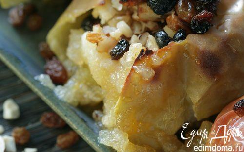 Рецепт Запеченные яблоки с орехами и изюмом