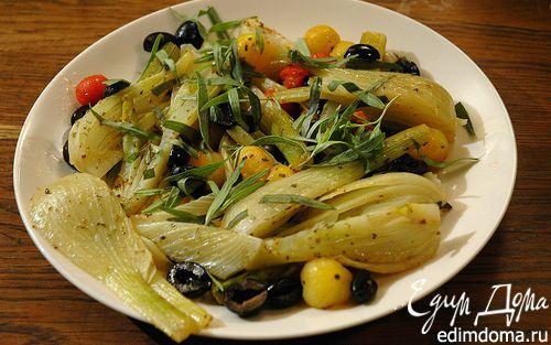 Рецепт Теплый салат из фенхеля с помидорами