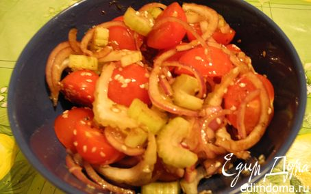 Рецепт Салат из сельдерея и помидоров