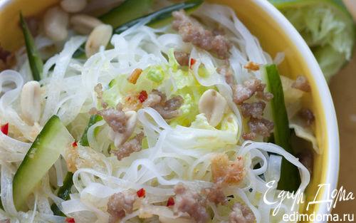 Рецепт Салат из рисовых макарон