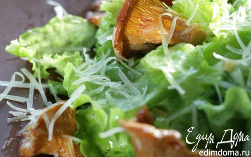 Рецепт Теплый салат с лисичками