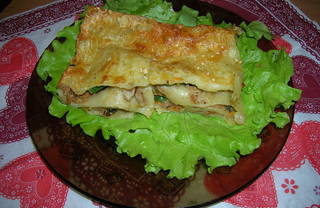 Рецепт Лазанья мясо-шпинатная