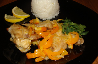 Рецепт Куриные крылышки с апельсинами