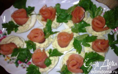 Рецепт Яйца, фаршированные семгой