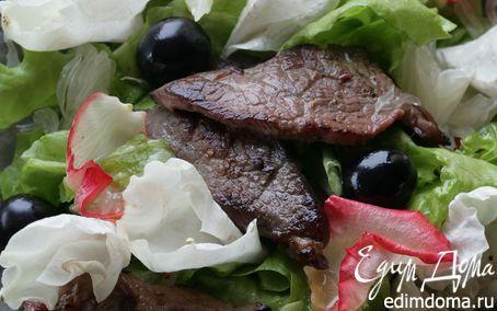 Рецепт Салат с говядиной, помело и виноградом
