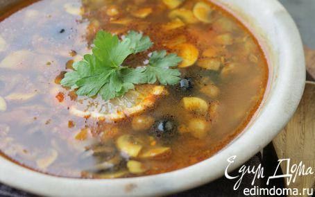 Рецепт Грибной суп с карри