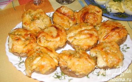 Рецепт Фаршированные шампиньоны с сыром и овощами