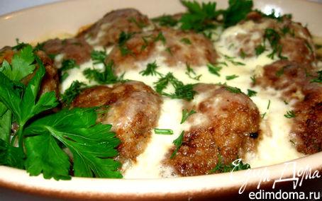 Рецепт Мясные тефтели под сливочно-молочным соусом
