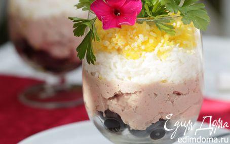 Рецепт Нежный салат с паштетом