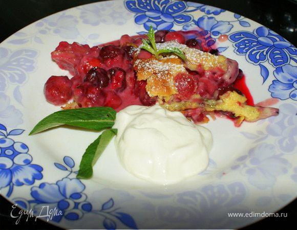 Запеченный вишневый десерт