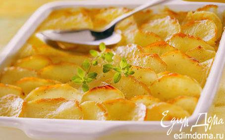 """Рецепт Картофель для большой семьи """"gratin dauphinois"""""""