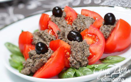 Рецепт Помидоры с паштетом из маслин
