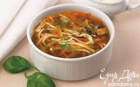 Рецепт Суп из белых грибов с макаронами
